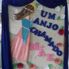 Painel Dia das Mães. Anjo em origami de 1,12m