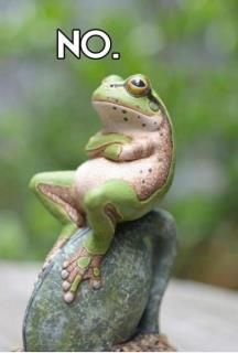 Stubborn as a........FROG?!