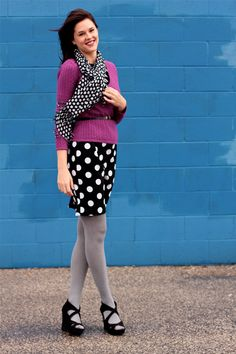 What I Wore: Polka Party #polkadots