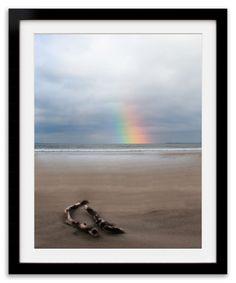 """At the end of the Rainbow"" by Anne Costello, LokoFoto.com.  Taken at Strandhill beach, Sligo, Ireland."