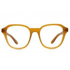 7cc77177db BIG WIG Eyeglasses in Butterscotch - Vint   York. A wide masculine frame  that evokes