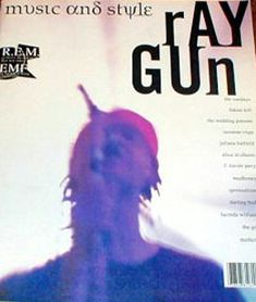 "cMag128 - Ray Gun Magazine cover ""R.E.M."" by David Carson / Issue 2 / December 1992"