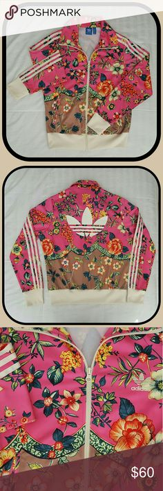 Adidas Originals FIREBIRD Floral Track Jacket An adidas original 2016. This jacket is gorgeous! So many vivid colors and lots of floral design. See picture above for more item details. Women's size medium. Flattering on all women! Looks so POSH! Adidas Jackets & Coats