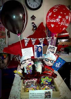 Birthday Gifts For Bestfriends, Balloon Decorations, Balloons, Presents, Lettering, Box, Cake, Desserts, Dating