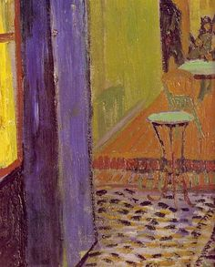 Cafe Terrace on the Place du Forum, 1888 by Vincent van Gogh. Post-Impressionism. interior