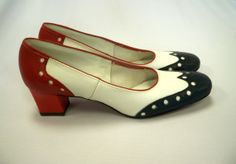 Vintage Womens Red White & Blue Oxford by YourVintageVagabond, $30.00