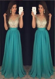 High Quality Formal Evening Dresses Mint Long Prom Gown Chiffon Prom Dresses Rhinestone From Upromdress Long Formal Gowns, Long Prom Gowns, Homecoming Dresses, Formal Dresses, Short Prom, Formal Prom, Prom Dresses Long Modest, Graduation Dresses, Prom Long
