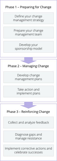 Prosci 3-phase process for change