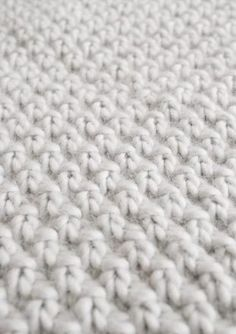 Double Seed Stitch Blanket   Purl Soho