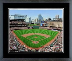 Baltimore Orioles park Framed With double black matting Ready To Hang- Awesome & Beautiful