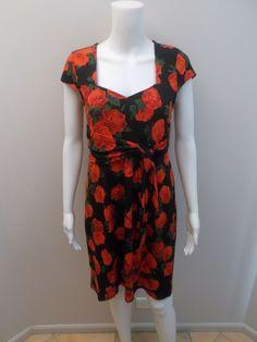 ac2045f56570 LEONA BY LEONA EDMISTON ROSE PRINT DRESS SIZE 10 ( M78)  fashion