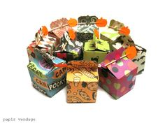 10 Halloween favor Boxes Halloween Decorations by papirvendage, $10.99