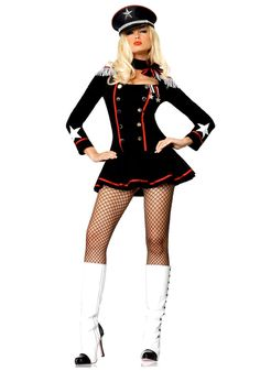 2020 Leg Avenue Women's Major Mayhem Dress and more Career Costumes for Women, Military Costumes for Women, Women's Halloween Costumes for Army Girl Costumes, Army Costume, Soldier Costume, Military Costumes, Adult Costumes, Costumes For Women, Military Clothing, Police Costumes, Marine Costume