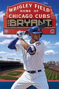 Kris Bryant Wrigley Superstar Chicago Cubs MLB Baseball Wall Poster - Trends