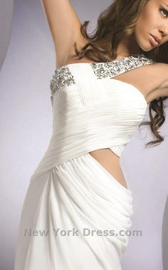 White dress w cutout