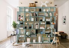 Create a Completely Create a Completely Customized Shelving Unit with Tylko - Design Milk Shelving Design, Drawer Design, Custom Shelving, Decor Interior Design, Interior Decorating, Interior Styling, Modern Bookcase, Wall Storage, Küchen Design