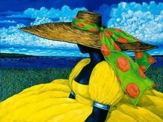 Gullah Lady in Yellow by Jonathan Green.