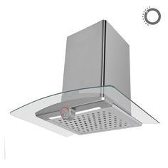 Okap kominowy Ciarko Design Sigma Light szary http://www.sklep.ciarkodesign.pl/e-sklep/okapy-kominowe/sigma-ligh-gray-detail #DESIGN #KITCHEN #OKAP #HOOD
