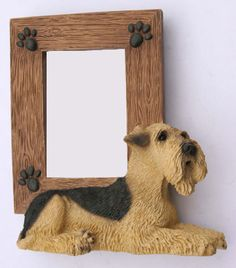 AIREDALE Terrier Dog Resin *RETIRED* Photo PICTURE FRAME Puppy new SF44  $13.94
