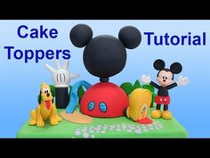 Mickey Mouse Clubhouse (Cake Toppers) / Cómo hacer la Casa Club de Mickey para tortas - YouTube