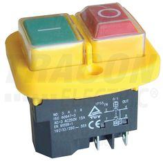 Relés Biztonsági Kapcsolók : Relés biztonsági kapcsoló, csavarozható, sárga kerettel SSTM-04 - Tracon Electric