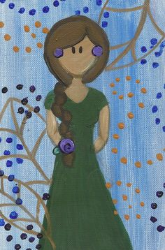 Pocahontas Original Painting by maddierosedoodles on Etsy, $5.00