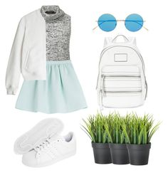 """""""light"""" by seriouskatya ❤ liked on Polyvore featuring Illesteva, adidas Originals, Marc by Marc Jacobs, Tara Jarmon, T By Alexander Wang and Newyork"""