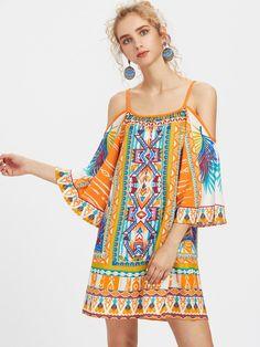 Shop Tribal Print Kimono Sleeve Dress online. SheIn offers Tribal Print Kimono Sleeve Dress & more to fit your fashionable needs.