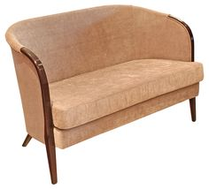Two Seater Club Settee Italian design for the 21st century  Very comfortable with a deep seat and high back This finish is an Italian hardwood beech frame This is from our Bespoke range So can choose your fabric and finish See our fabrics in the Bespoke section  This price is for this fabric and finish  Please ring if you need any advice on choosing your wood and fabric finish
