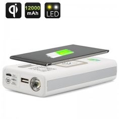Multi-Functional Portable Power Bank - Wireless Charge, 12000mAh Capacity, Emergency Car Jump Starter Ability   Tuhao NZ - ??