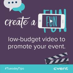 On Tuesdays we're sharing tips on everything from venue selection to event follow-up! Today's Tip >> Videos are great ways to promote your #event and they don't have to be expensive! Think outside the box on how you can market your event in fun, unique and engaging ways. If you found this tip helpful, share with your network! #TuesdayTips