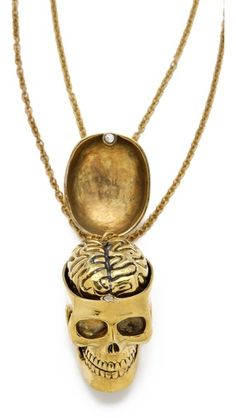 Monserat De Lucca Skull & Brain Friendship Necklace Set