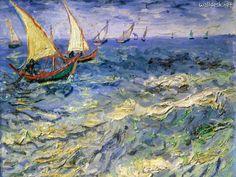 Seascape at Saintes Maries de la Mer. Vincent van Gogh