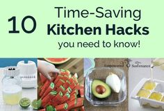 Time-Saving Kitchen Hacks You Need to Know A list of brilliant kitchen hacks to save time and money in the kitchen.A list of brilliant kitchen hacks to save time and money in the kitchen. Cooking Tips, Cooking Recipes, Cooking Videos, Food Hacks, Food Tips, Hacks Diy, Food Ideas, Meal Ideas, Craft Ideas
