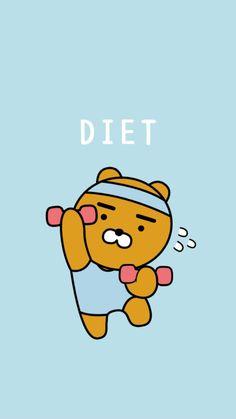 Diet Wallpaper Iphone Wallpapers 20 Ideas For 2019 Wall Wallpaper, Wallpaper Backgrounds, Korea Wallpaper, Kawaii Wallpaper, Wallpaper Ideas, Ryan Bear, Kakao Ryan, Kakao Friends, Military Diet