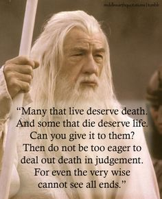 Lord of the Rings ~Gandalf to Frodo