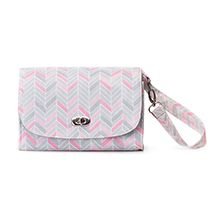 Patented LillyBit Diaper Clutch, Mom on the go, Fashion, Function, Baby products, Chevron. Wear one bag 4 different ways.