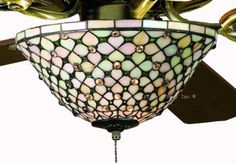 Glass Ceiling, Ceiling Fans, Ceiling Lights, Lead Windows, Tiffany Stained Glass, House Ideas, Ivory, Amazon, Street
