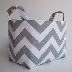 Chevron fabric basket $18