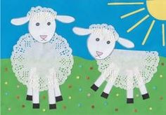 Lace for sheep!? Why not! Adorable spring lamb craft for the kids to make!