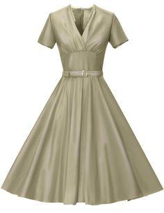 GownTown Womens Party Dresses 1950s Vintage Retro Dresses Swing Dresses | Amazon.com