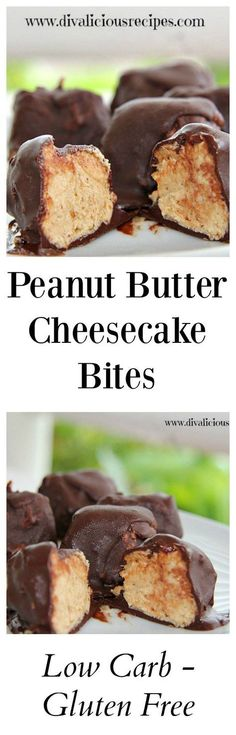CLICK Image for full details Peanut butter cheesecake bites Low carb & gluten free Recipe divaliciousrecipe. Low Carb Cheesecake Recipe, Peanut Butter Cheesecake, Cheesecake Bites, Low Carb Sweets, Low Carb Desserts, Dessert Recipes, Diabetic Desserts, Weight Watcher Desserts, Gluten Free Recipes