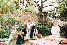 Bohemian backyard baby shower by Sunshine Charlie | 100 Layer Cakelet