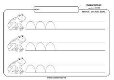 Žabka - grafomotorika - pracovné listy Kids Education, Baby Kids, Kindergarten, Preschool, Maths, Spring, Early Education, Kid Garden, Kindergartens