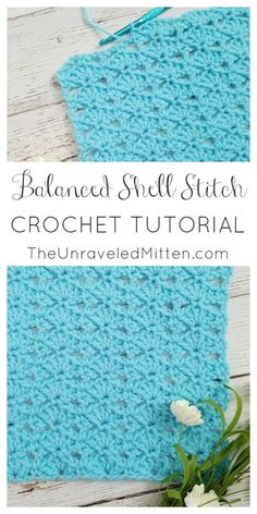 Balanced Shell Stitch | Crochet Tutorial | The Unraveled Mitten | Easy | Balnket | Scarf | Shawl