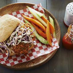Crispy Chicken Sandwich with Blue Cheese Slaw