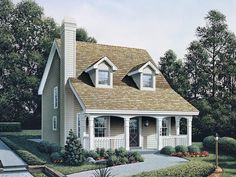 Small Country Homes with Porch | Brook Hill Country Home Plan 007D-0088 | House Plans and More