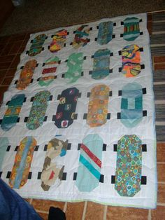 Skate Boards  what a  fun quilt!