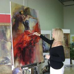 Anna painting She Dances In Beauty 1