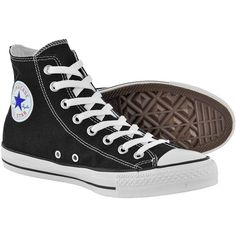 Converse Black Classic High Top boots - Converse high tops - hi top... ❤ liked on Polyvore